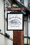 Black Rat Restaurant sign in Chesil Street, Winchester, Hampshire, England