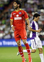 Real Valladolid´s Marc Valiente (r) and Getafe's Lafita (l) during La Liga match.August 31,2013. (ALTERPHOTOS/Victor Blanco)