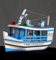 Artesanato em miriti. Barco. PA. Foto de Rogerio Reis.