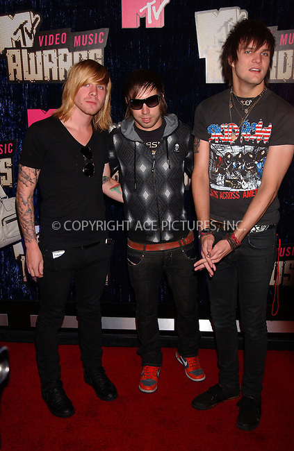 WWW.ACEPIXS.COM . . . . . ....September 9 2007,  Las Vegas, Nevada....Musical group Boys Like Girls arriving at the 2007 MTV Video Music Awards at the Palms Casino.....Please byline: KRISTIN CALLAHAN - ACEPIXS.COM.. . . . . . ..Ace Pictures, Inc:  ..tel: (646) 679 0430..e-mail: picturedesk@acepixs.com..web: http://www.acepixs.com