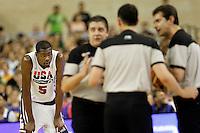 USA's Kevin Durant and the referees during friendly match.July 22,2012. (ALTERPHOTOS/Acero) /NortePhoto.com*<br /> **CREDITO*OBLIGATORIO** <br /> *No*Venta*A*Terceros*<br /> *No*Sale*So*third*<br /> *** No Se Permite Hacer Archivo**