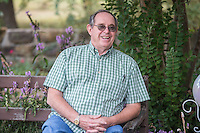 NWA Democrat-Gazette/ANTHONY REYES • @NWATONYR<br /> James Crownover talks about his books Thursday, Sept. 24, 2015 at his home in Elm Springs. Crownover won two Spur awards for his first published western novel.