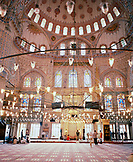 TURKEY, Istanbul, interior of Sultan Ahmed Mosque