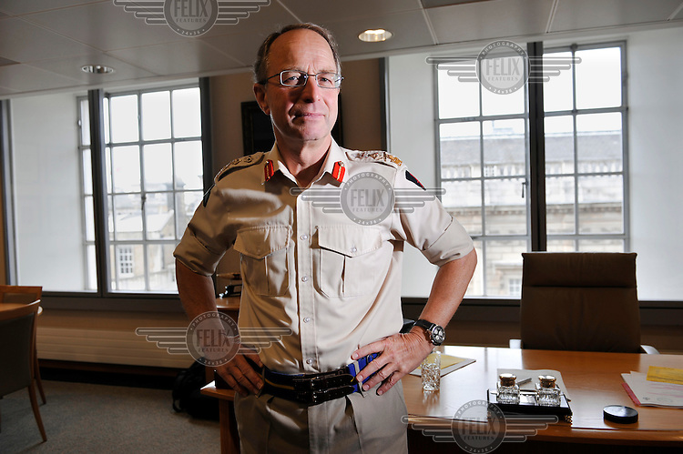 British Army General Sir David Richards is to succeed Sir Jock Stirrup as Chief of the Defence Staff of the Ministry of Defence, photographed at the MOD headquarters in London.