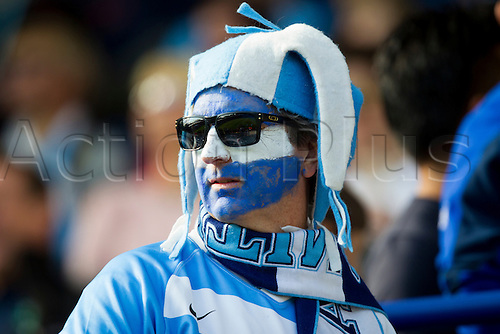 04.10.2015. Leicester, England. Rugby World Cup. Argentina versus Tonga. An Argentinian fan pictured before kick-off.