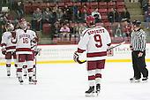 Luke Esposito (Harvard - 9) -  - The Harvard University Crimson defeated the visiting Colgate University Raiders 7-4 (EN) on Saturday, February 20, 2016, at Bright-Landry Hockey Center in Boston, Massachusetts.
