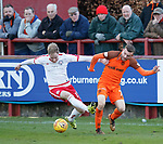 17.04.2018 Brechin City v Dundee utd:<br /> Euan Spark and Paul McMullan