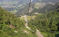 Blick aus der Jenner-Seilbahn ins Tal - Berchtesgaden 17.07.2019: Fahrt auf den Jenner