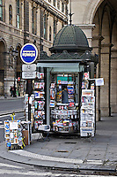 Newspaper stand Paris..©shoutpictures.com.john@shoutpictures.com