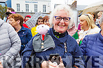 Norella Moriarty (Listowel) waiting to see President Higgins during his visit to Listowel on Saturday morning