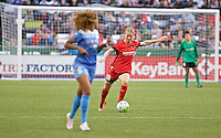 Portland, Oregon - Wednesday June 22, 2016: Portland Thorns FC midfielder Amandine Henry (28) passes the ball during a regular season National Women's Soccer League (NWSL) match at Providence Park.