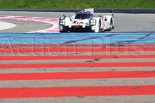 28.03.2015.  Le Castellet, France. World Endurance Championship Prologue Day 2. Porsche Team Porsche 919 Hybrid driven by Timo Bernhard, Mark Webber and Brendon Hartley.