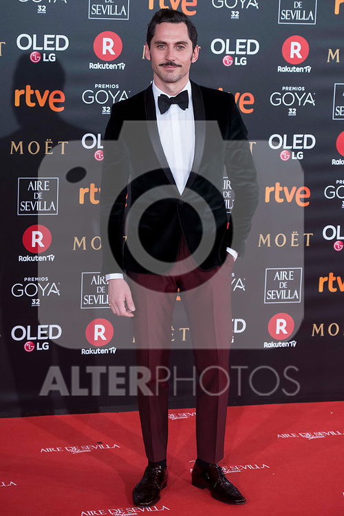 Paco Leon attends red carpet of Goya Cinema Awards 2018 at Madrid Marriott Auditorium in Madrid , Spain. February 03, 2018. (ALTERPHOTOS/Borja B.Hojas)