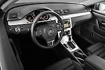 2010 Volkswagen CC Sport R-Line Sedan High Angle Dashboard View Stock Photo