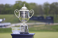 Wanamaker Trophy on display during the final round at the PGA Championship 2019, Beth Page Black, New York, USA. 19/05/2019.<br /> Picture Fran Caffrey / Golffile.ie<br /> <br /> All photo usage must carry mandatory copyright credit (© Golffile | Fran Caffrey)