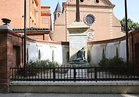 General view of the Monument aux morts, Quartier Saint-Michel, Saint Exupère, Toulouse, Occitanie, France on 23.7.19.
