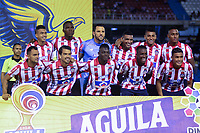 BARRANQUIILLA - COLOMBIA, 09-10-2019: Jugadores del Junior posan para una foto previo al partido por la fecha 16 de la Liga Águila II 2019 entre Atlético Junior y Deportivo Cali jugado en el estadio Metropolitano Roberto Melendez de la ciudad de Barranquilla. / Players of Junior pose to a photo prior a match for the date 16 as part Aguila League II 2019 between Atletico Junior and Deportivo Cali played at Metropolitano Roberto Melendez stadium in Barranquilla city.  Photo: VizzorImage/ Alfonso Cervantes / Cont