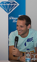 Richard Lavillenie of France (Pole Vault) during Pre Event Press Conference at Grange Tower Bridge Hotel, Prescott Street, The Sainsbury's Anniversary Games Diamond League Event. London, England on 23 July 2015. Photo by Andy Rowland.