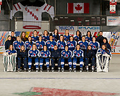 MORDEN, MB– Nov 4 2019: Team Ontario Blue during the 2019 National Women's Under-18 Championship at the Access Event Centre in Morden, Manitoba, Canada. (Photo by Matthew Murnaghan/Hockey Canada Images)