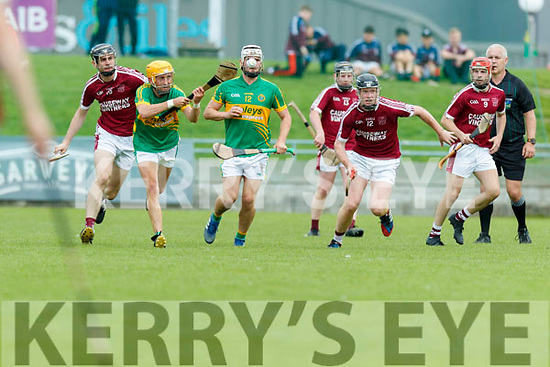 Brandon Barrett Causeway in action against John Griffin Lixnaw during the Kerry County Hurling final between Causeway and Lixnaw at Austin Stack park on Sunday