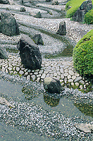 A quirky arrangement of stones and water makes this Zen garden something special. It is part of the Matsunoo-taisha shrine in Arashyiama.