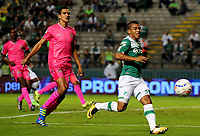 PALMIRA - COLOMBIA, 29-07-2017: Cesar Amaya (Der) del Deportivo Cali disputa el balón con Norbey Salazar (Izq) de Tigres FC durante partido por la fecha 5 de la Liga Águila II 2017 jugado en el estadio Palmaseca de Cali. / Cesar Amaya (R) player of Deportivo Cali fights for the ball with Norbey Salazar (L) player of Tigres FC during match for the date 5 of the Aguila League II 2017 played at Palmaseca stadium in Cali.  Photo: VizzorImage/ Nelson Rios /Cont