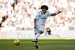 Marcelo Vieira Da Silva of Real Madrid in action during the La Liga 2017-18 match between Real Madrid and FC Barcelona at Santiago Bernabeu Stadium on December 23 2017 in Madrid, Spain. Photo by Diego Gonzalez / Power Sport Images