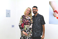 Krissie Torgerson and Alfred Rodriguz attend Samuel Gui Yang's Untitled (Ephemeral Study 1)