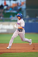 Midland RockHounds outfielder Matt Angle (29) running the bases  during a game against the Tulsa Drillers on June 2, 2015 at Oneok Field in Tulsa, Oklahoma.  Midland defeated Tulsa 6-5.  (Mike Janes/Four Seam Images)