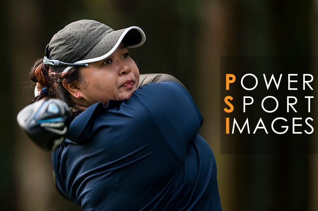 Nur Durriyah Damian of Malaysia in action during the 9th Faldo Series Asia Grand Final 2014 golf tournament on March 19, 2015 at Faldo course in Mid Valley clubhouse in Shenzhen, China. Photo by Xaume Olleros / Power Sport Images