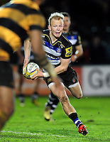 Will Homer of Bath United in possession. Aviva A-League match, between Bath United and Wasps A on December 28, 2016 at the Recreation Ground in Bath, England. Photo by: Patrick Khachfe / Onside Images