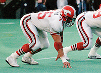 Stu Laird Calgary Stampeders 1986. Photo F. Scott Grant