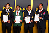 Rugby League finalists Roger Tuivasa Sheck, Eko Malu, Viliame Lolohea and David Fusitua. ASB College Sport Young Sportsperson of the Year Awards held at Eden Park, Auckland, on November 24th 2011.