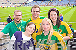 Kerry Fans Donal O'Carroll, Niamh Collins, JP O'Carroll, Patricia and Triona Dalton from Asdee Supporting Kerry at Croke park on Sunday.