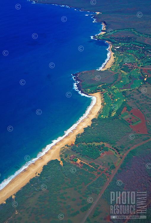 Papohaku Beach, Molokai, aerial