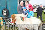 PONY RIDE: One of the many of the entertainments at the Maurice Collins Vintage Day Sunday Banna West, Ardfert were pony rides the Feehan family went on one l-r: Sarah Jane, Denis,Seanie and Helen Feelan.  (Kilmoyley).