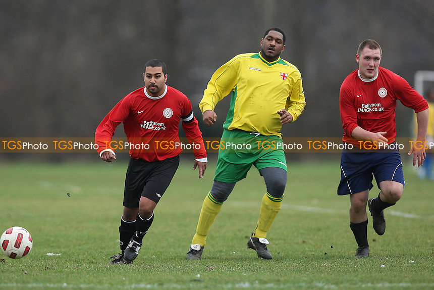 East London (yellow/green) vs Shakespeare (red) - Hackney & Leyton League Football at South Marsh, Hackney Marshes - 13/02/11 - MANDATORY CREDIT: Gavin Ellis/TGSPHOTO - Self billing applies where appropriate - Tel: 0845 094 6026