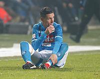 Jose Callejon of Napoli  during the  italian serie a soccer match,Atalanta - SSC Napoli at  the Atleti azure d'italia   stadium in Bergamo Italy , December 03, 2018
