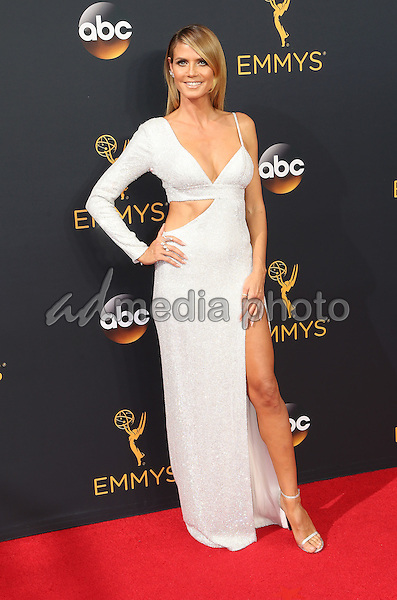 18 September 2016 - Los Angeles, California - Heidi Klum. 68th Annual Primetime Emmy Awards held at Microsoft Theater. Photo Credit: AdMedia