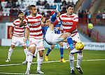 Hamilton Accies v St Johnstone...31.10.15  SPFL  New Douglas Park, Hamilton<br /> Graham Cummins gets between Martin Canning and Antons Kurakins<br /> Picture by Graeme Hart.<br /> Copyright Perthshire Picture Agency<br /> Tel: 01738 623350  Mobile: 07990 594431