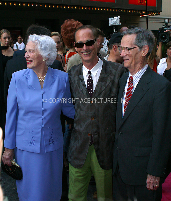 "Opening night for Broadway's newest and hottest show, ""Hairspray"" at Neil Simon Theatre. New York, August 15, 2002. Pictured are director John Waters with his mother. Please byline: Alecsey Boldeskul/NY Photo Press.   ..*PAY-PER-USE*      ....NY Photo Press:  ..phone (646) 267-6913;   ..e-mail: info@nyphotopress.com"