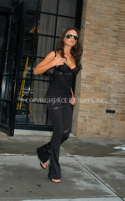 Victoria Beckham on a business trip in New York where she is recording her next album. New York, July 10, 2003. Please byline: NY Photo Press.   ..*PAY-PER-USE*      ....NY Photo Press:  ..phone (646) 267-6913;   ..e-mail: info@nyphotopress.com