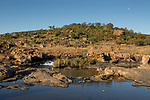 River flowing through shrubland, Bourke's Luck Potholes, Blyde River Canyon, Blyde River Canyon Nature Reserve, South Africa