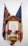 War remembrance memorial Holy Trinity church, Blythburgh, Suffolk, England