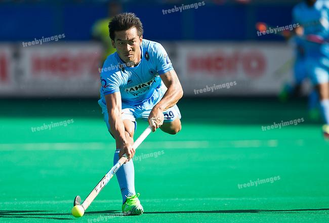 01/07/2015<br /> HWL Semi Final Antwerp Belgium 2015<br /> India v Malaysia Men<br /> Chinglensana Kangujam<br /> <br /> Photo: Grant Treeby