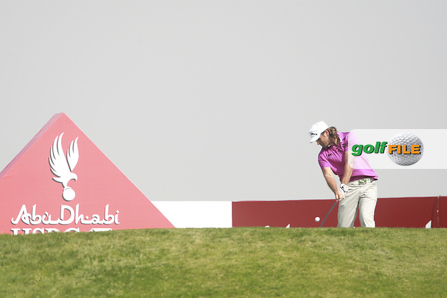 Johan Edfors (SWE) in action on the 3rd tee during Saturday's Round 3 of the HSBC Golf Championship at the Abu Dhabi Golf Club, United Arab Emirates, 28th January 2012 (Photo Eoin Clarke/www.golffile.ie)