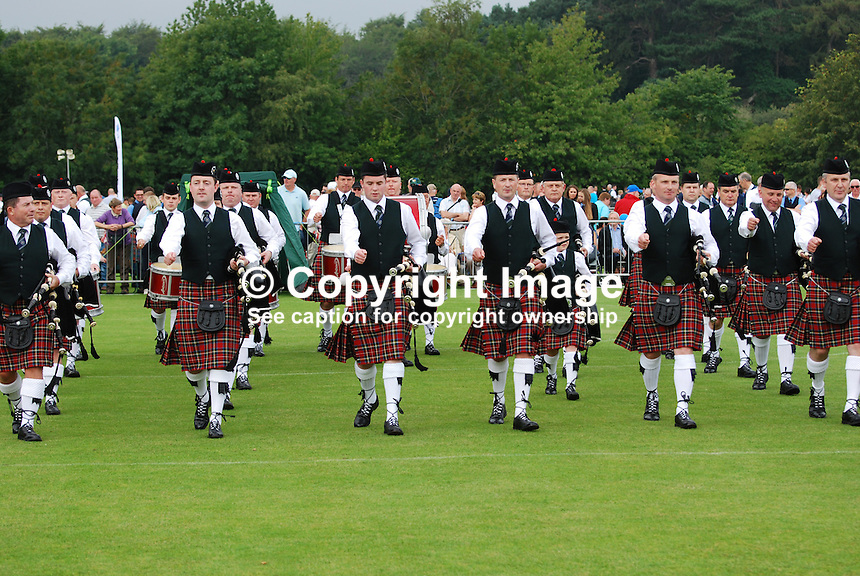 European Pipe Band Championships at Stormont Estate, Belfast, N Ireland, on 30 July 2011. Police Service of N Ireland Pipe Band which was a competitor at the event. 201107304784...Copyright Image from Victor Patterson, 54 Dorchester Park, Belfast, UK, BT9 6RJ..Tel: +44 28 9066 1296.Mob: +44 7802 353836.Voicemail +44 20 8816 7153.Skype: victorpattersonbelfast.Email: victorpatterson@me.com.Email: victorpatterson@ireland.com (back-up)..IMPORTANT: If you wish to use this image or any other of my images please go to www.victorpatterson.com and click on the Terms & Conditions. Then contact me by email or phone with the reference number(s) of the image(s) concerned.
