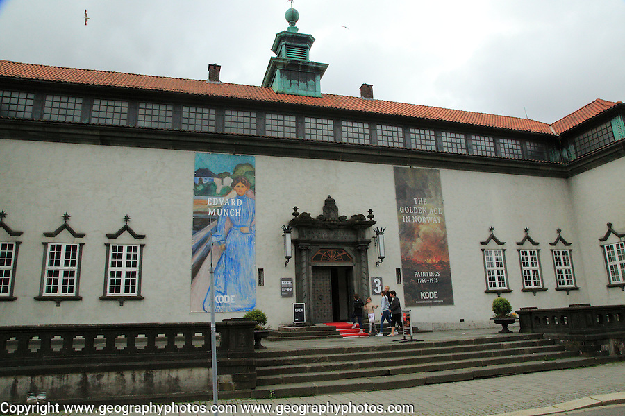 Kode 3 art gallery museum exterior, Bergen, Norway with Edvard Munch and the Golden Age exhibition