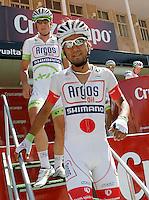 Yujihiro Doi (f) and John Degenkolb before the stage of La Vuelta 2012 between Logroño and Logroño.August 22,2012. (ALTERPHOTOS/Acero) /NortePhoto.com<br /> <br /> **SOLO*VENTA*EN*MEXICO**<br /> **CREDITO*OBLIGATORIO**<br /> *No*Venta*A*Terceros*<br /> *No*Sale*So*third*<br /> *** No Se Permite Hacer Archivo**<br /> *No*Sale*So*third*