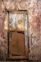 Old door in wall, Istanbul, Turkey